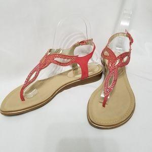 Carlos Santana Trista Rhinestone Pink Thong Sandal